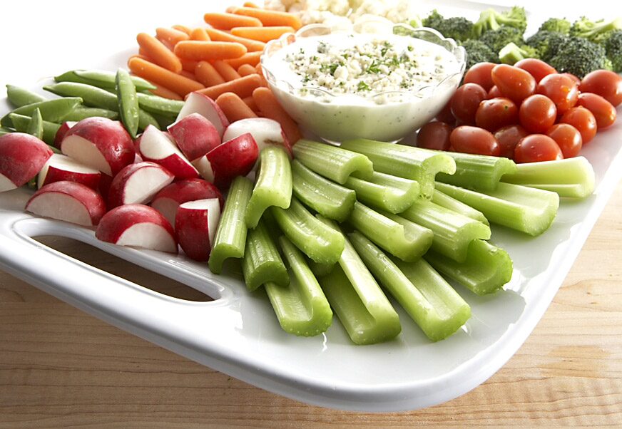 rauwe groente maaltijd